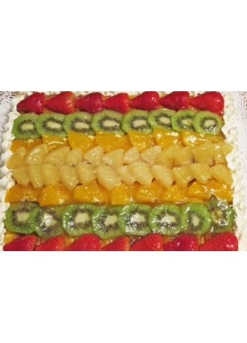 Tarta Frutas con Nata (12 Raciones)