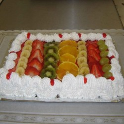Tarta Fruta Natural con...